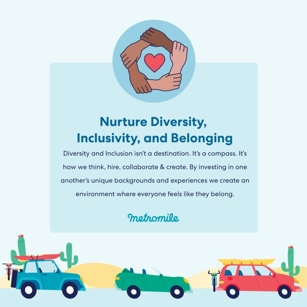 Metromile Values: Diversity, Inclusion, and Belonging